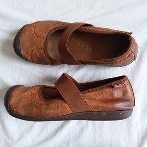 Keen SIENNA Mary Jane Leather Flat Women's 8.5